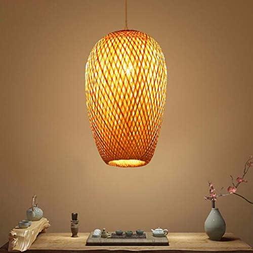 Hanglamp Handgemaakte Bamboe Rotan Plafond Lampenkap E27 Lamphouder Eettafellamp Hoogte Verstelbare Hanglampen Woonkamer Plafondlamp Moderne Kroonluchter Voor Slaapkamer Eetkamer Keuken Hal