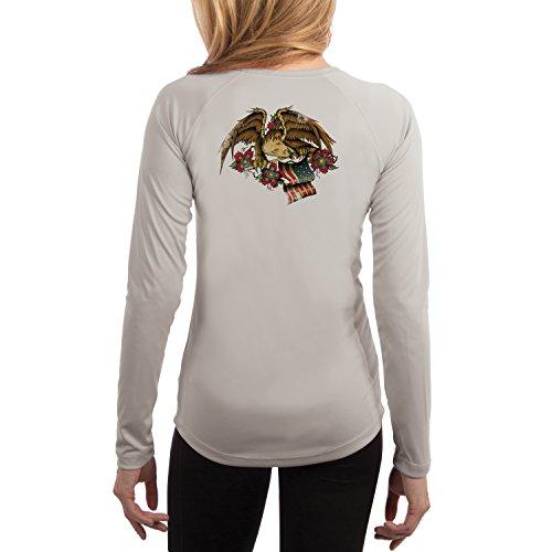 Bullseye Tattoos Women's Eagle UPF 50+ Performance T-shirt X-Large Pearl Grey