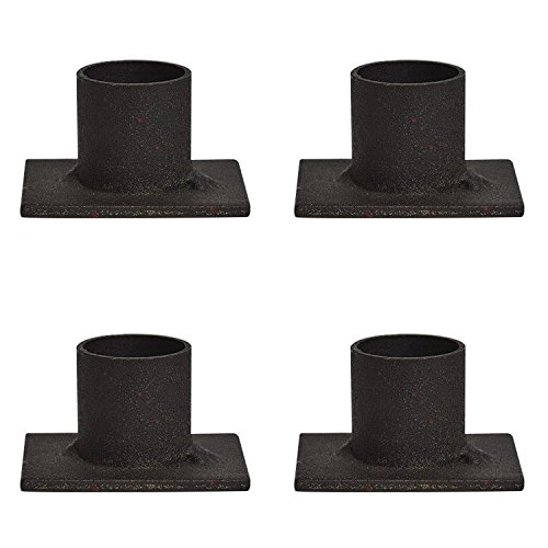 Distressed Iron Taper Holders (4, 2x1.5x1 Inch)