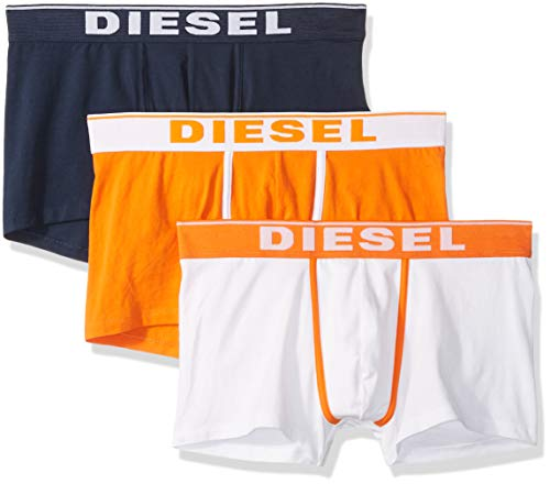 (Diesel Men's UMBX-DAMIENTHREEPACK Boxer-Brief 3pack, Blue/Orange, M)