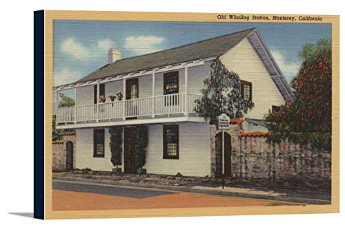 Monterey, California View of Old Whaling Station (36x22 5/8 Gallery Wrapped Stretched Canvas)