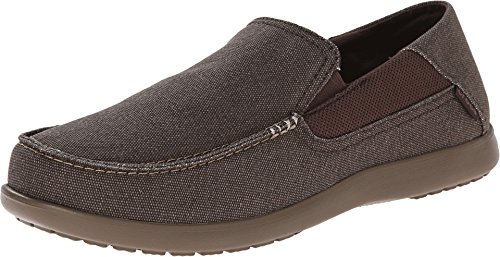crocs Men's Santa Cruz 2 Luxe Slip-On Loafer, Espresso/Walnut, 9 M US