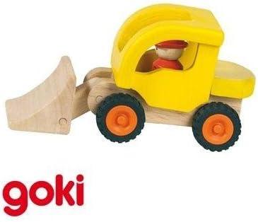 Goki Pelleteuse jaune Jouet en bois