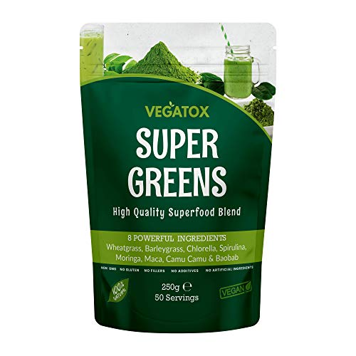 Super Greens Powder 250g | Ultimate Immune Support | Green Powder Superfood for Immunity, Energy and Detox | Vegan, 100…