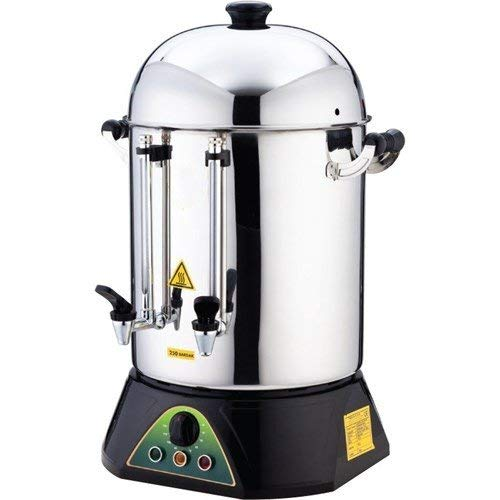 Urn System Brewing - TEMP CONTROL LARGE 250 CUP STORAGE Restaurant Cafe Catering STAINLESS STEEL Double Compartment industrial Commercial Hot Water Tea Coffee Maker Brewer Brewing Machine Urn Percolator Dispenser 220V