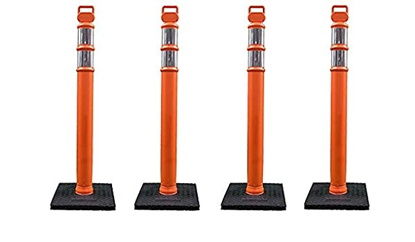 """Safety Barriers 03-747RBC Polyethylene Portable Delineator Post With 10 Lbs 42/"""""""