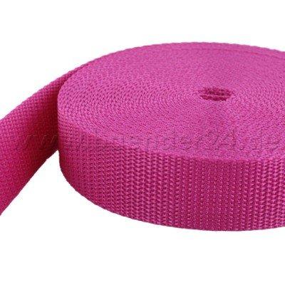 pink UV 50m PP Gurtband 1,4mm stark 25mm breit
