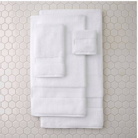 Better Homes and Gardens Thick and Plush Bath Towel Collection - 6 Piece Bath Towel, Arctic White