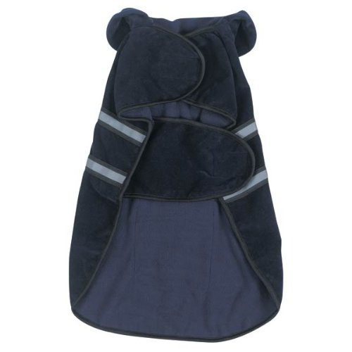 Image of Casual Canine Fleece-Lined Reflective Dog Jacket for Safety, Blue, XXL