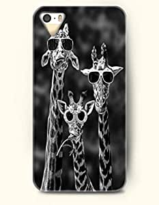 Apple iPhone 4/4S Cover The Giraffe With Sunglasses - Hard Back Plastic Case / Design Make You Laugh / OOFIT Authentic