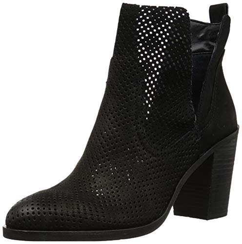 Dolce Vita Women's Shay PERF Ankle Boot, Black Nubuck, 8 M US