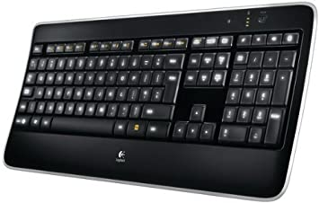 299e17c61c8 Logitech K800 Illuminated Wireless Keyboard, UK (QWERTY) Layout - Black