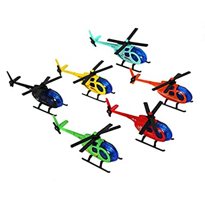 Smart Novelty Metal Die Cast Helicopters in Assorted Colors - Set of 6 Helicopters: Toys & Games