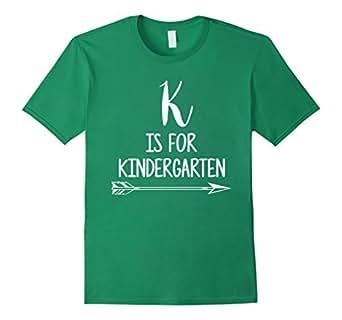 Mens K is For Kindergarten Tshirt Teacher Student First Day Pre-K 2XL Kelly Green