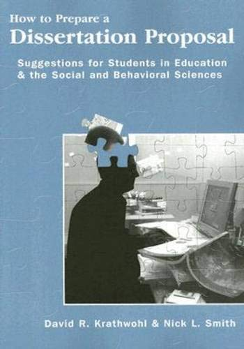How To Prepare A Dissertation Proposal: Suggestions for...