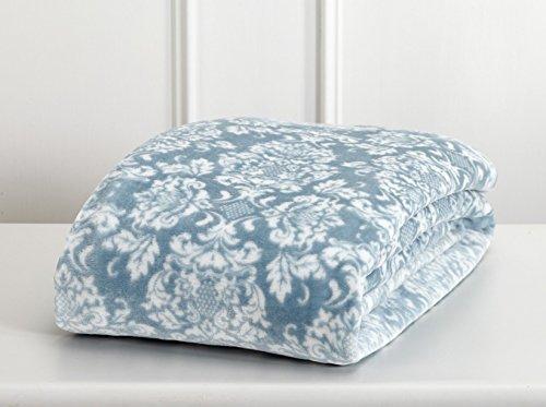 Home Fashion Designs Velvet Plush Soft Bed Blanket (Full/Queen, Smoke Blue)