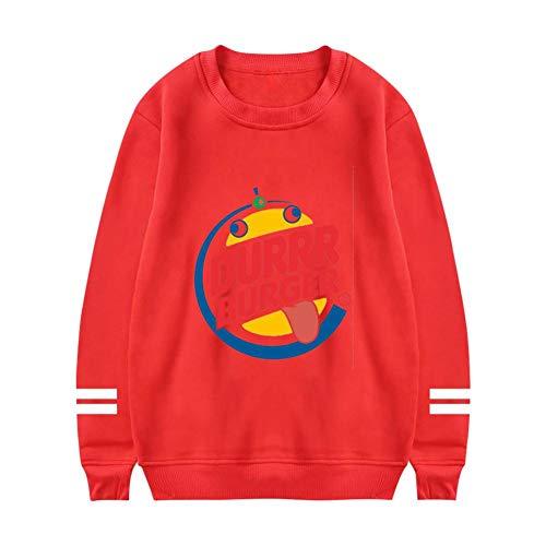 Durrrger King Casual Crewneck Sweatshirts Long Sleeve Loose Pullover Shirt For Women