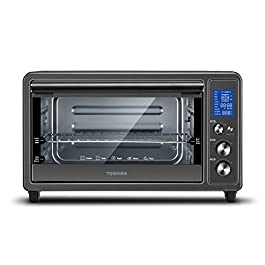 Toshiba Digital Toaster Oven with Double Infrared Heating and Speedy Convection, Larger 6-slice/12-inch Capacity, 1700W…