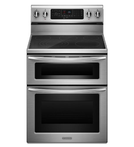 Kitchenaid KERS505XSS 30-Inch, 5-Element Freestanding Double Oven Range with Even-Heat Convection - 30