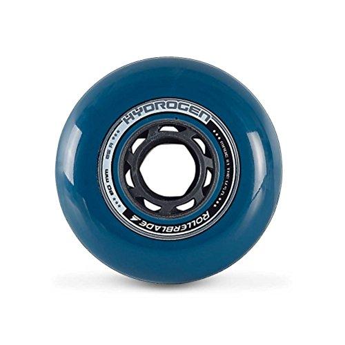 Rollerblade Hydrogen Urban 80mm 85A Inline Skate Wheels - 8 Pack 2018 - Petrol Blue