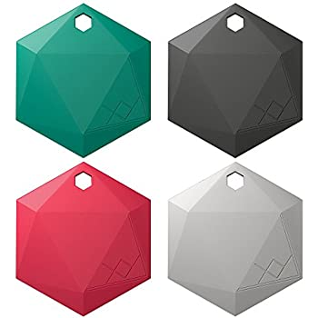 XY3.1 Item Finder by XY Findables | Bluetooth Item Locator | Find Your Lost Keys, Wallet, Phone, Etc | Bluetooth Low Energy 4.0 Tracker | Sleek Hex Design | QTY 4 (Jade, Onyx, Ruby, Silver)