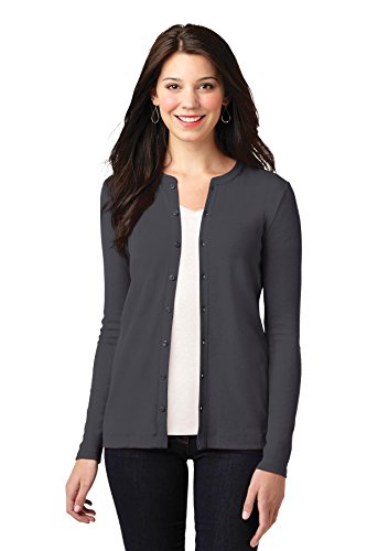 's Concept Stretch Button Front Cardigan XL Grey Smoke ()