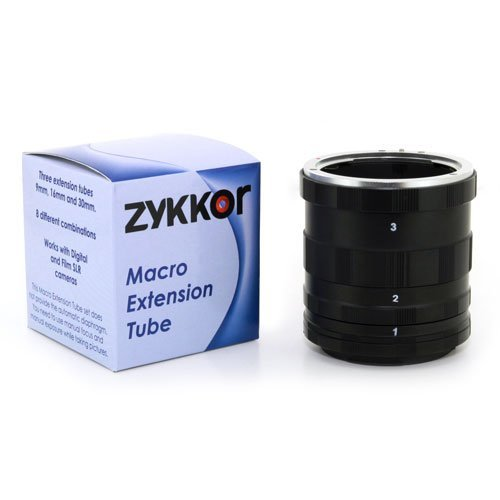 Zykkor Macro Extension Tube Rings Set for Micro 4/3 SLR Film and Digital Camera lens