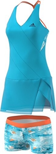 Adidas Women's Tennis Melbourne Dress, Samba Blue, X-Small