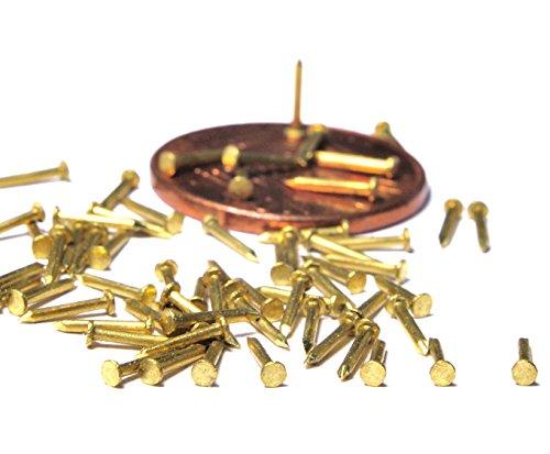 Brass Tack Nails, Escutcheon Pins 400pcs - 6mm (1/4