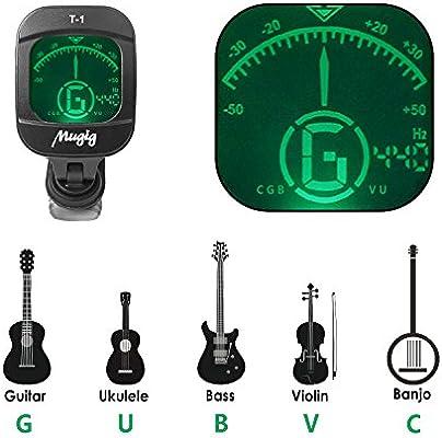 Mugig Sintonizador Para Guitarra afinador Clip Bajo Violín Ukulele ...
