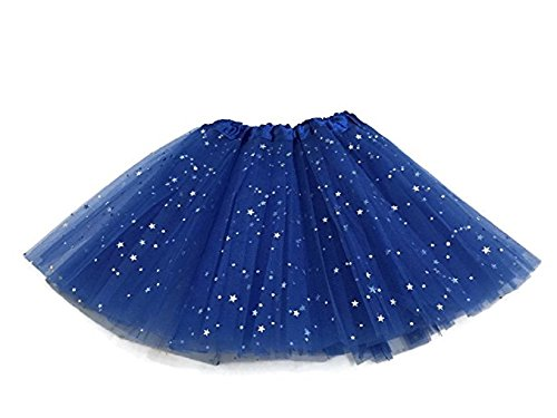 Girls Ballet Tutu Skirt By Mystiqueshapes (Stars-Royal Blue) (Skirt Marathon Sports Girl)