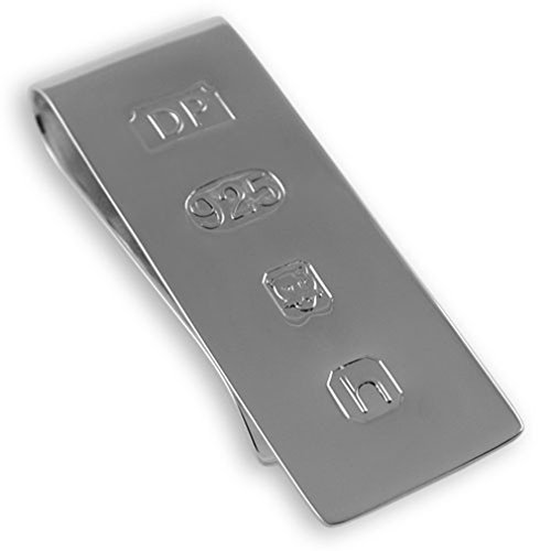 Bond Box silver Set Money Clip large Sterling cufflinks James onyx rectangular SgYfOq4