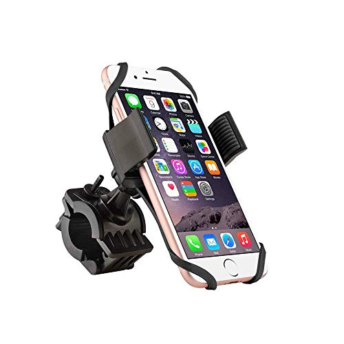 FEDBNET Bike Phone Holder, Universal Cell Phone Mount Bicycle Handlebar Mobile Phone Bracket Outdoor Riding Mountain Bike Mobile Phone GPS Navigation Fixed ()
