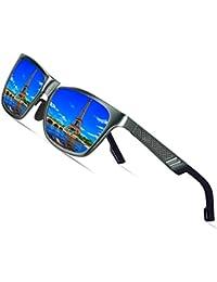 f2e6fb87d22 Men s Retro Metal Frame Driving Polarized Wayfarer Sunglasses Al-Mg Metal  Frame Ultra Light