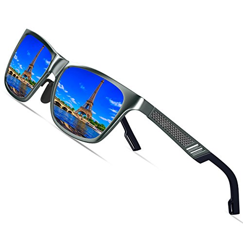 KITHDIA Men's Retro Metal Frame Driving Polarized Wayfarer Sunglasses Al-Mg Metal Frame Ultra Light #6560 by KITHDIA