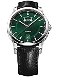 Pontos Day/Date Automatic Watch, Stainless steel, Green