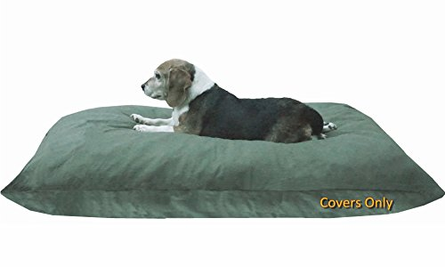Do It Yourself DIY Pet Bed Pillow Duvet Canvas Cover + Waterproof Internal case for Dog/Cat at Large 48''X29'' Olive Green color - Covers only by Dogbed4less