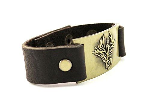 Phoenix Bracelet, cuir, réglable