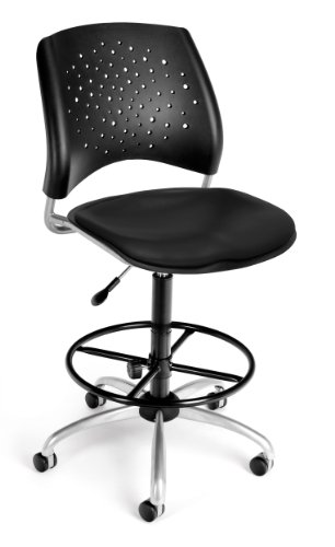OFM 326-VAM-AA3-DK-606 Stars Swivel Drafting Chair with Arms
