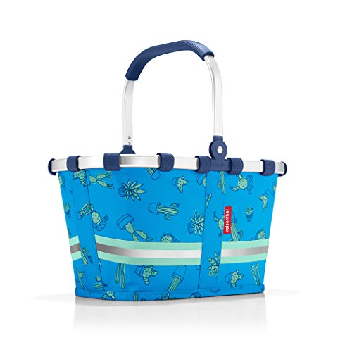 reisenthel Carrybag XS Kids, Extra Small Collapsible Basket, Cactus Blue (Reisenthel Basket Collapsible)