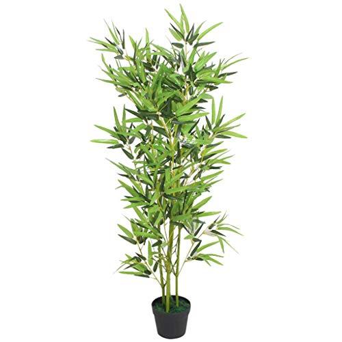 vidaXL Plante Artificielle avec Pot Bambou Décoration d'Intérieur 120 cm Vert