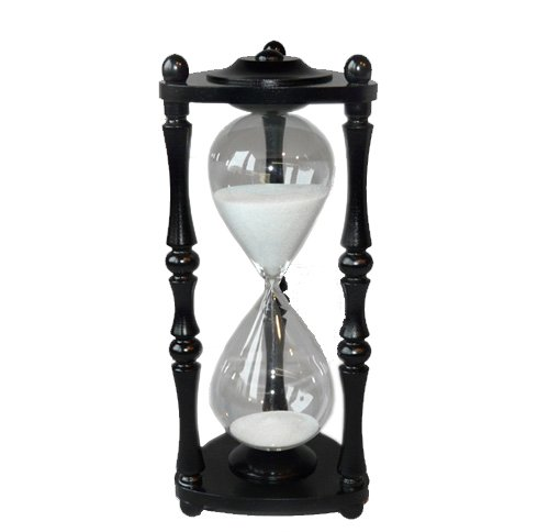 Sandglass Hourglass Sand Timer Clock black painted beechen 60 min one hour by LUPI Solar Radiometer and much more