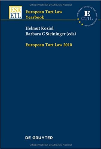 Read EUROPEAN TORT LAW YEARBOOK 2010  PRINT PDF, azw (Kindle)