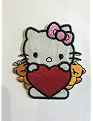 Hello Kitty with Heart Iron on Patch