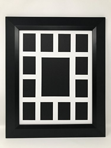 """12x16 2"""" Black Bevel Contemporary Solid Wood Picture Frame w"""
