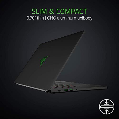 "Razer Blade 15 Gaming Laptop - Intel Core i7-8750H 6 Core, GeForce RTX 2060, 15.6"" FHD 144Hz, 16GB RAM, 512GB SSD, Chroma RGB Keyboard, Thunderbolt 3, 0.70"" thin, CNC Aluminum (Renewed)"