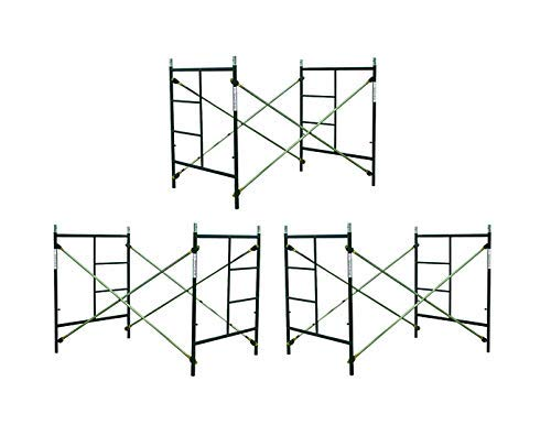 CBM Scaffold 3 Sets of Scaffolding Masonry Box Frames 5' x 5' x 7' Scaffold CBM1290