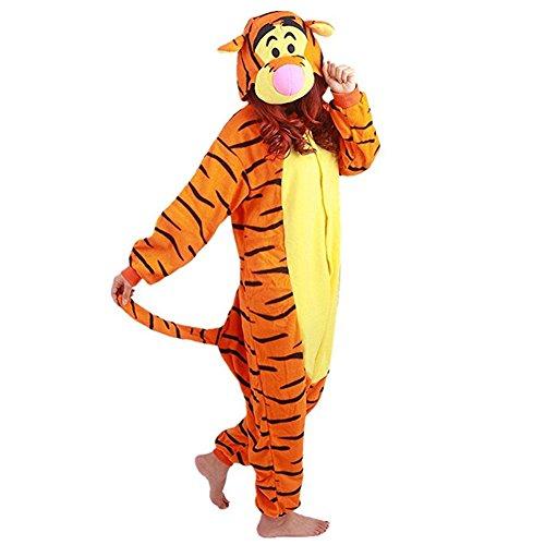 Kacm Unisex Animal Pajamas Onesie Little Tiger Costume Cartoon -