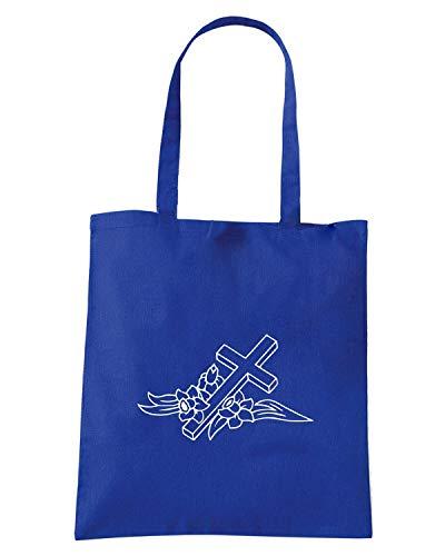 Borsa Shopper Royal Blu FUN1097 CROSS DECAL 5 92410