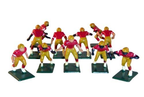 Electric Football 11 Regular Size Men in Gold Maroon White Home (Regular Uniform)
